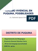 Turismo Vivencial en Puquina, Posibilidades