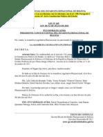 Ley Nº 265 Ratifica Convenio Marco entre Bolivia y China sobre Crédito Preferencial.doc
