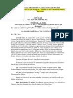 Ley Nº 268 Aprueba la Enajenación de Lote de Terreno del Gob Mun de Caraparí a favor de YPFB.doc