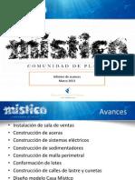 Informe Avance Mistico Marzo 13