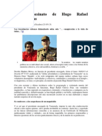 Artero asesinato de Hugo Rafael Chávez