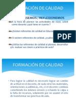 FORMACIÓN DE CALIDAD SIGIFREDO