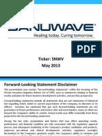 Sanuwave Investor Presentation