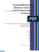 Strengthing Relationships Between Artists and Post Industrial Cities