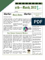 2013 March Go Fourth Newsletter