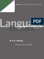 HALLIDAY Language and Education. Vol. 9