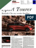 """RENAULT CLIO SPORT TOURER E CLIO R.S. 200 EDC NO """"JORNAL DE NEGÓCIOS"""""""
