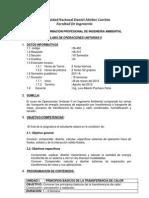 Silabo 2012-Operaciones Unitarias II