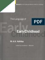 HALLIDAY Language of Early Childhood