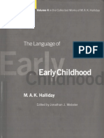 HALLIDAY Language of Early Childhood