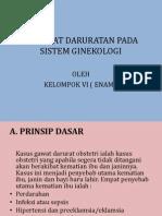 Kegawat Daruratan Pada Sistem Ginekologi