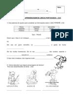 Atividade de Língua Portuguesa 3º ano