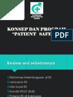 konsep patient safety