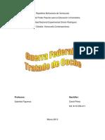 Guerra Federal y Tratado de Coche