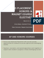 AP Honors Magnet ELectives Presentation
