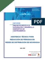 Asistencia Tecnica Para Reduccion de Perdidas en Redes de Distribucion de Nicaragua