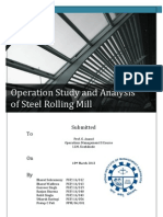 Operation Study and Analysis of Steel Rolling Mill
