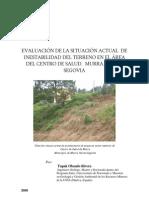 Situacion Inestabilidad Terreno Centro Salud