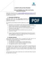 1. Small Grant Application Process