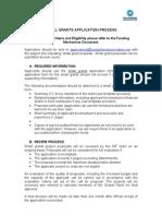 1. Small Grant Application Process