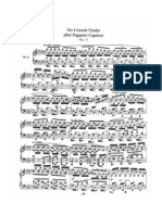 Schumann's 6 Concert Etudes After Paganini Caprices, Op 10