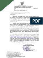 Surat Penawaran Magang LN 2013