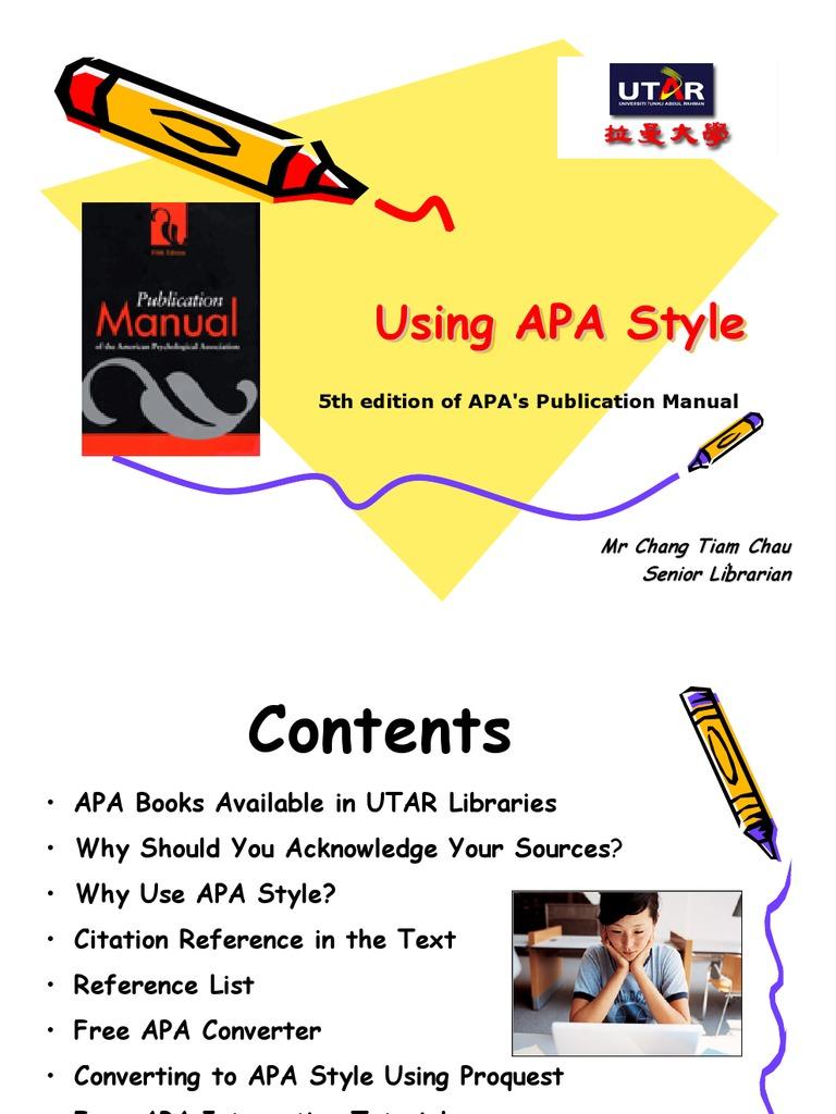 a pa style citation apa style citation