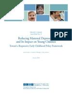 Reducing Maternal Depresion