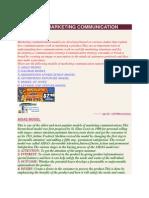 Models of Marketing Communication