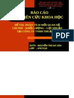 Thuyet trinh de tai PHAN TICH MOI QUAN HE CHI PHI – KHOI LUONG – LOI NHUAN TAI CONG TY TNHH THUAN DU .pdf