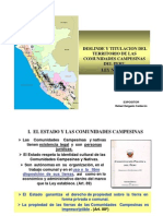 Deslinde_titulacion Comunidades Campesinas