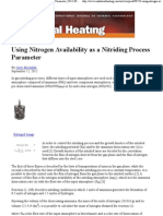 Using Nitrogen Availability as a Nitriding Process Parameter