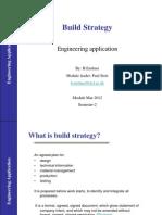 MAR2012 Build Strategy