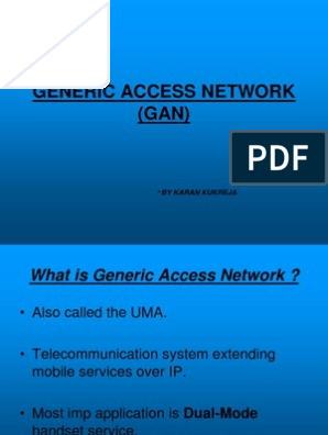 7657504 Generic Access Network