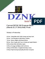 DZNK 549 Holy Week Specials (2013)
