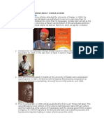 10 Things You Didnt Know About Chinua Achebe (COMPILED BY BHADMUS HABDULAKEEM @Bhadoosky)