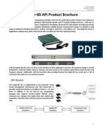 Spider-80 API Product Brochure