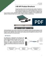 Spider-80 API Product Brochure