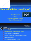 How to Publish a (Good) Paper