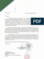 carta al Comité Internacional de la Cruz Roja