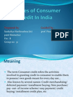 Sources of Consumer Credit in India FP
