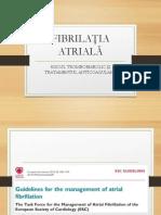 Ghidul Socieatatii Europene de Cardiologie privind fibrilatia atriala