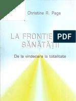 85853188 Christine Page La Frontierele Sanatatii