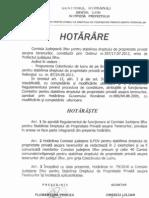 Regulament de Functionare a Comisiei Judetene Ilfov Pentru Stabilirea Dreptului de Proprietate Asupra Terenurilor