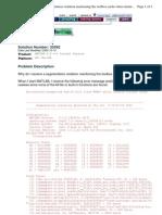 Segmentation Violation 33592