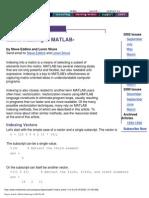 Matrix Indexing