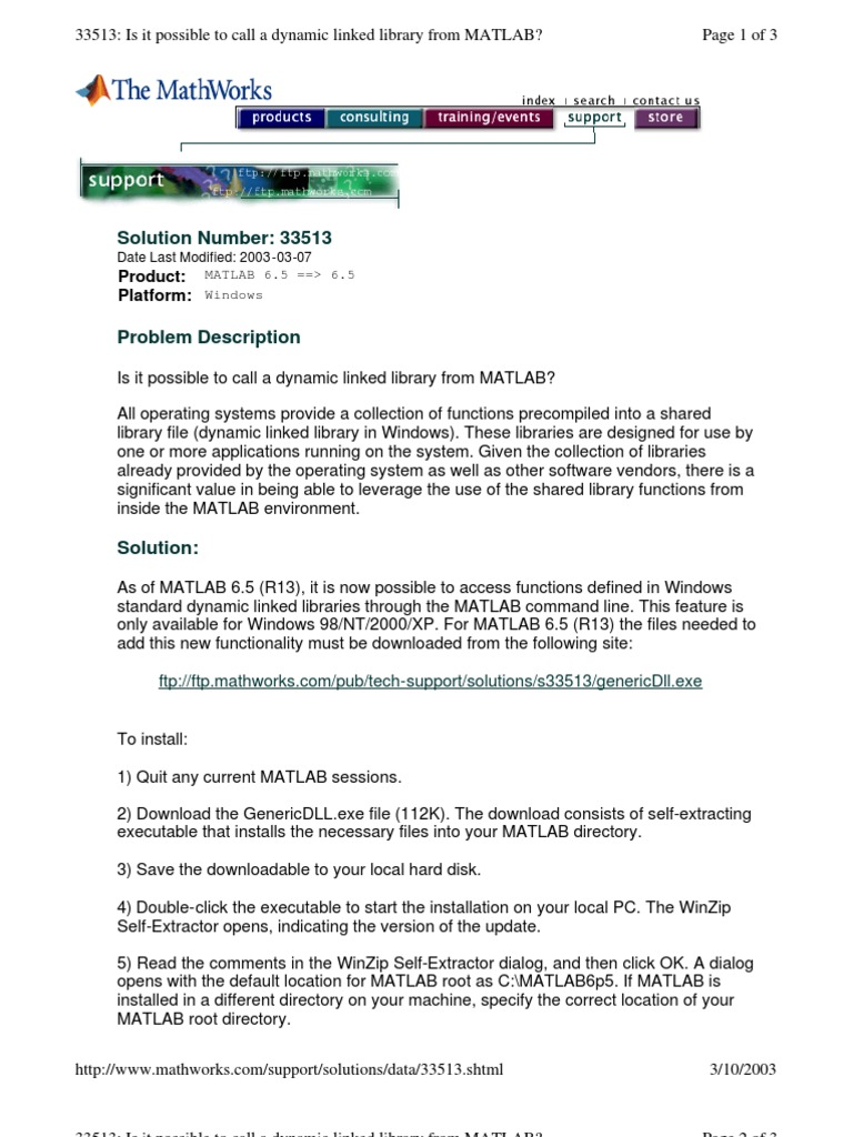 Using-DLL in Matlab   Library (Computing)   Matlab