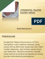 Congenital Talipes Equino Varus
