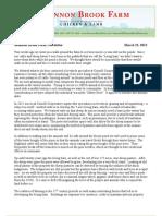 Shannon Brook Farm Newsletter 3-23-2013