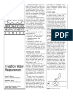 Irrigation Water Measurement